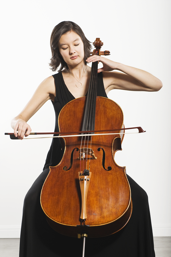 Young Woman Playing Cello for BED