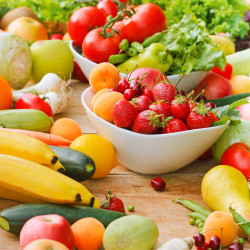 Organic fruits and vegetables used in Orthorexia and Healthy Eating to prevent Starvation Symptoms
