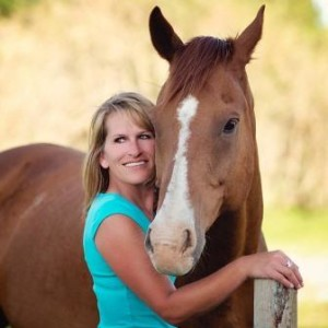 Woman participating in Equine Therapy