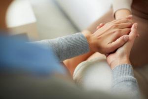 Hands of women showing gratitude